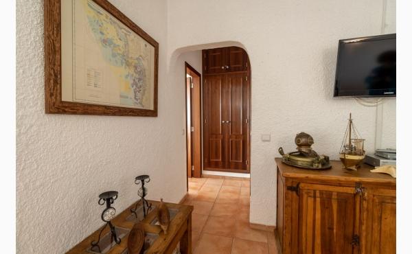 Wohnzimmer mit Meerblick, Klimaanlage und Kamin / Livingroom with seaview, Aircon and fireplace